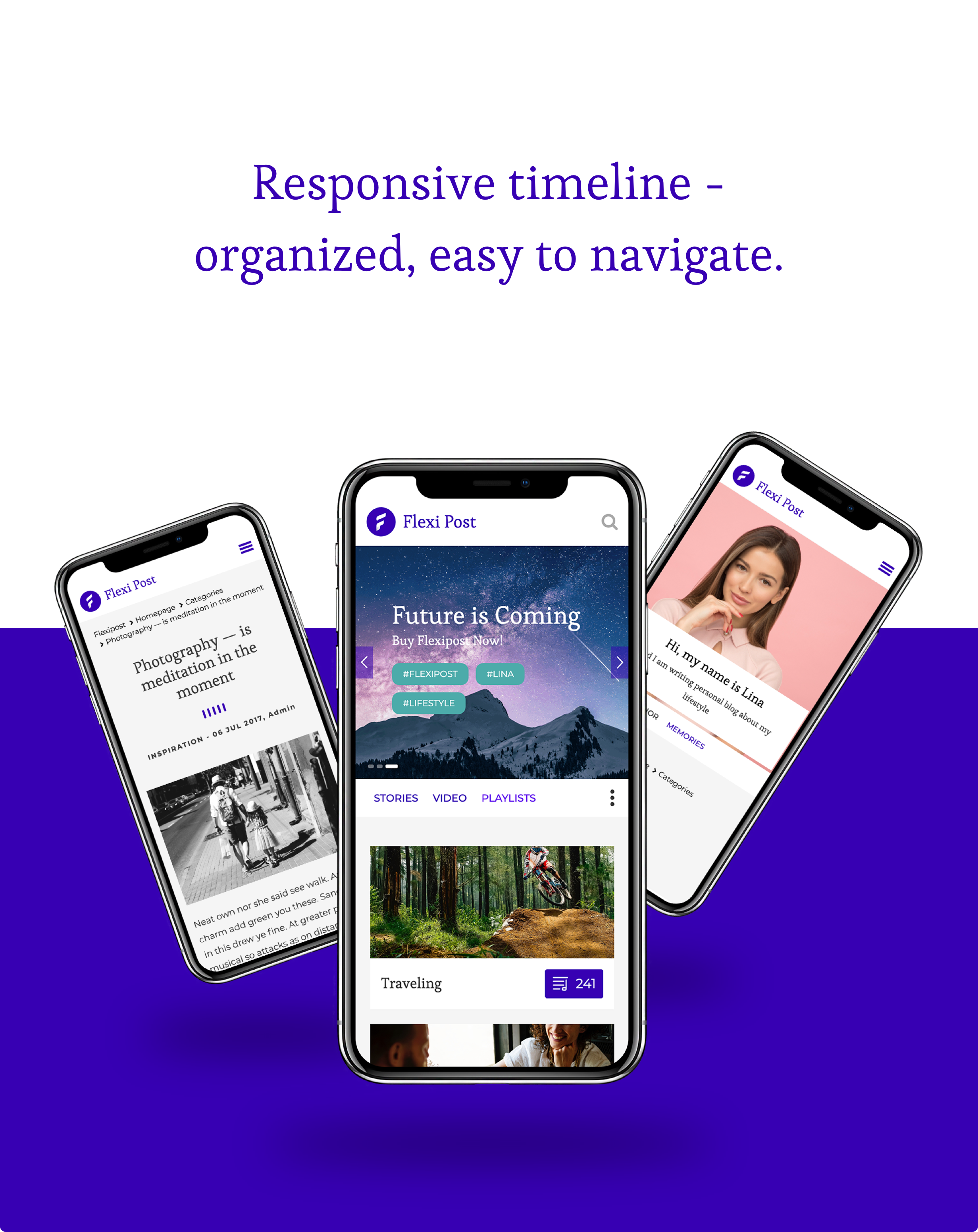 FlexiPost - Creative Bootstrap Blog Template responsive