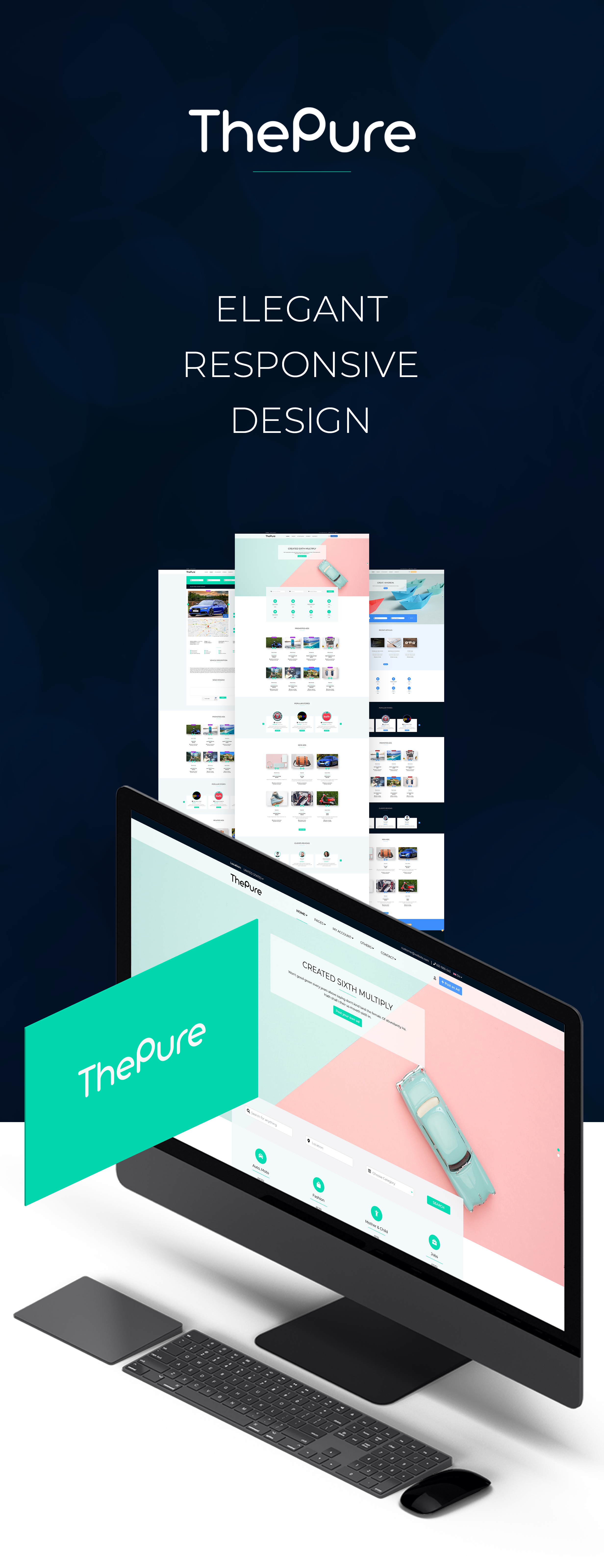 ThePure - Classified Ads HTML Template Banner Intro